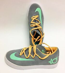 e639e4909c9b8 Details about NEW NIKE VULC SUEDE KD SNEAKERS,GRAY+YELLOW+MINT GREEN BOY  SHOES SIZE:US 5Y,EUR3