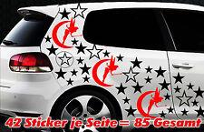 85 Sterne Fee Elfe Star Auto Aufkleber Set Sticker Tuning Stylin Wandtattoo Fai