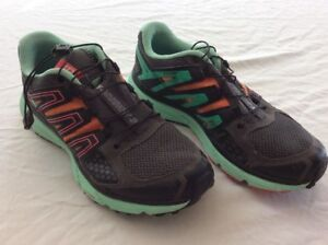 3755da8a08b3 Salomon Mission 3 Green Orange Gray Mens Size 6.5 Running Shoes