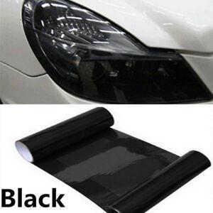 "1X DIY 12x48/"" Glossy Black Headlight Taillight Vinyl Wrapping Sheet Film Sticker"