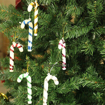 NEW 10pcs Santa Candy Cane Ornaments Festival Party Xmas Tree Hang Decorations
