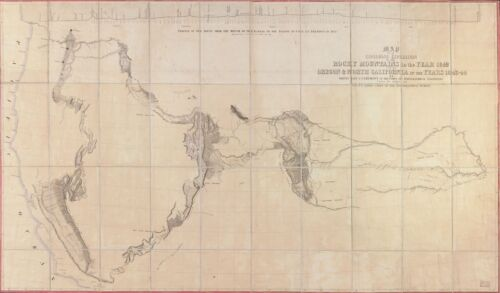 """HP 14/"""" x 24/"""" 1845 Map Of An Exploring Expedition To Rocky Mountains /& To Oregon"""