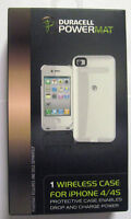 1 Duracell Powermat Wireless White Case For Apple Iphone 4 / 4s W/usb Cable