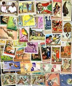 Burundi Collections De 50 à 1000 Timbres Différents Doux Et LéGer