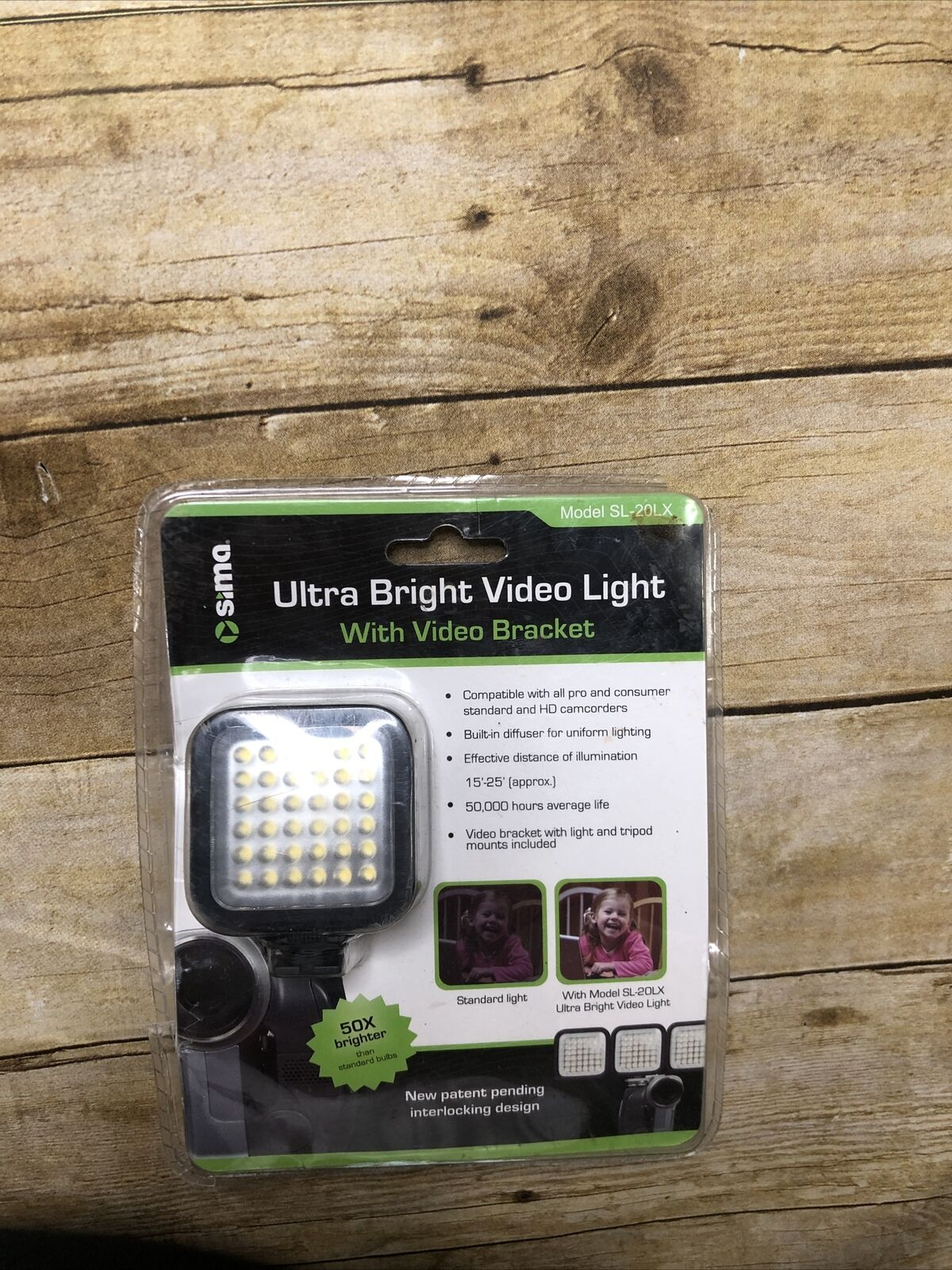Sima SL-20LX Rechargeable LED Ultra Bright Video Light w/ Power Supply x2