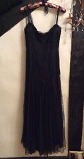 RALPH LAUREN RRL WOMENS LACE SILK LONG BLACK DRESS.  SIZE: UK 4-6    RRP:£850