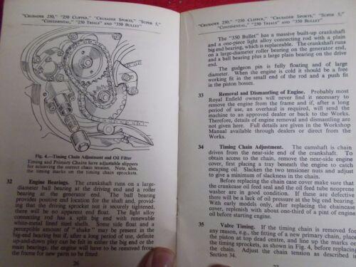 350 Bullet Royal Enfield Instruction Book; Crusader Sports 250 Trails