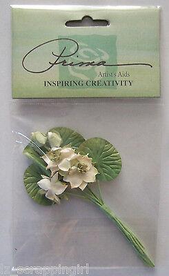 ~IVORY & GREEN BOUQUET~ Floral Embellishments Prima Marketing; Wedding Flowers