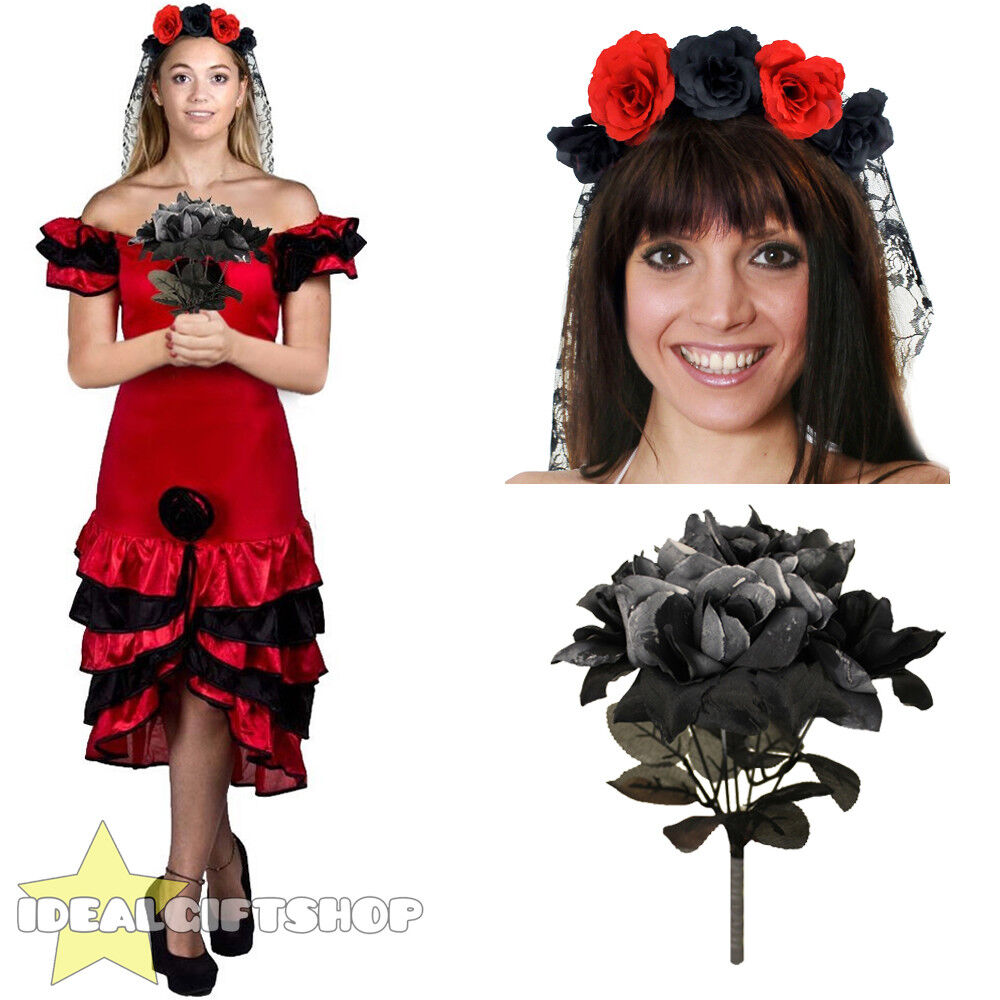 LADIES LADIES LADIES DAY OF THE DEAD HALLOWEEN FANCY DRESS COSTUME DEAD CORPSE ZOMBIE BRIDE | Qualitativ Hochwertiges Produkt