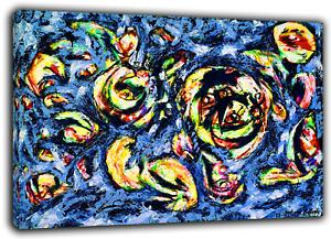 JACKSON POLLOCK OCEAN GREYNESS PAINT RE PRINT ON FRAMED CANVAS WALL ART
