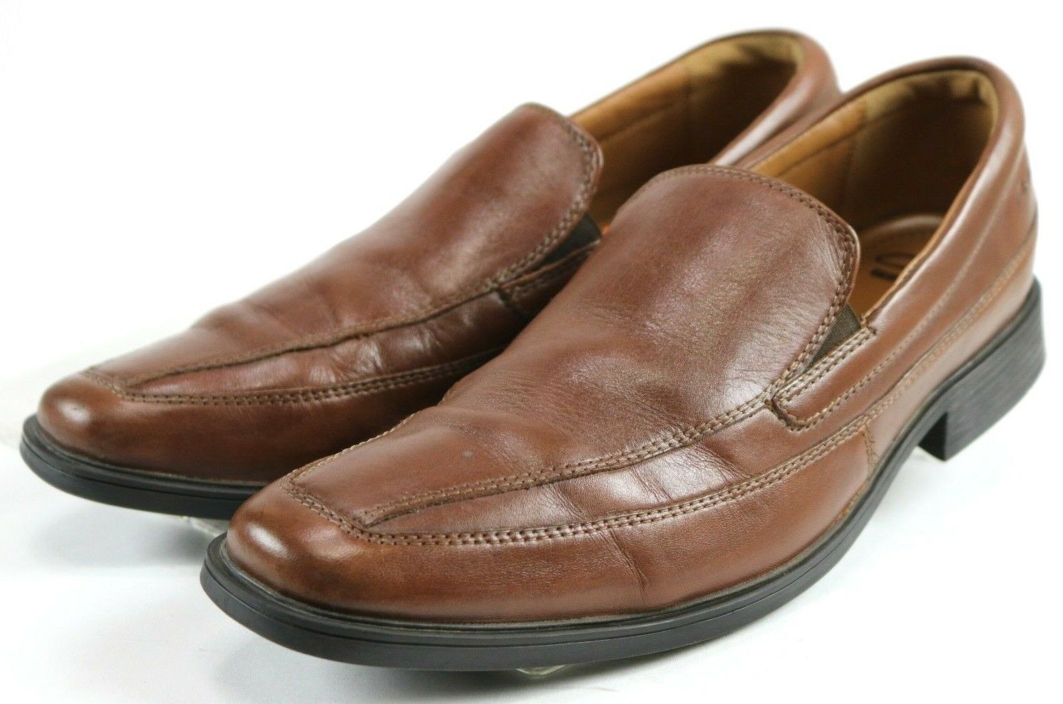 Clarks Collection Loafers Men's  110 Slip-On Dress shoes Size 10 Leather Brown