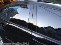 VW JETTA BLACK HIGH GLOSS PILLAR POSTS 2006-2010 ( 6 PIECE SET)