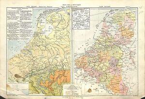 Pays-bas Netherlands Belgique Belgium Waterloo Politique MAP CARTE ATLAS 1882 - France - État : Occasion: Objet ayant été utilisé. Consulter la description du vendeur pour avoir plus de détails sur les éventuelles imperfections. ... - France