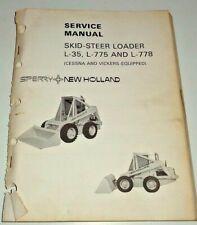 New Holland L 35 L 775 L 778 Skid Steer Loader Service Shop Manual Oem Nh 279