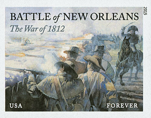 2015 49c The War of 1812: Battle of New Orleans, Imperf