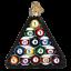 thumbnail 1 - Old World Christmas BILLIARD BALLS (44069)N Glass Ornament w/ OWC Box