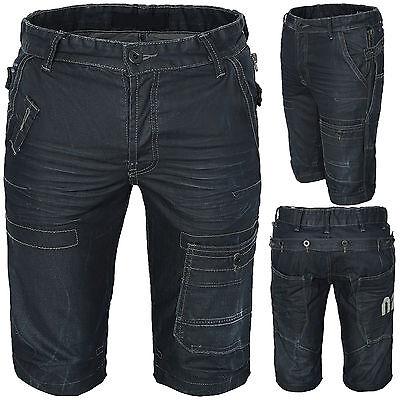 Coole Herren Jeans Hose Bermuda Hose Shorts Herren Shorts Schwarz Sommer H-067