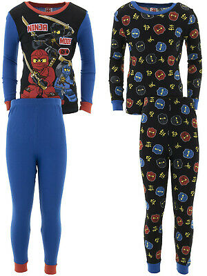 Long Pant,Glow in the Dark 4 Piece PJ Set LEGO Ninjago Boys Pajama Set Long Sleeve