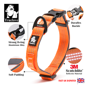 Genuine-Truelove-Soft-Padded-Adjustable-Reflective-Strong-Dog-Collar-S-M-L