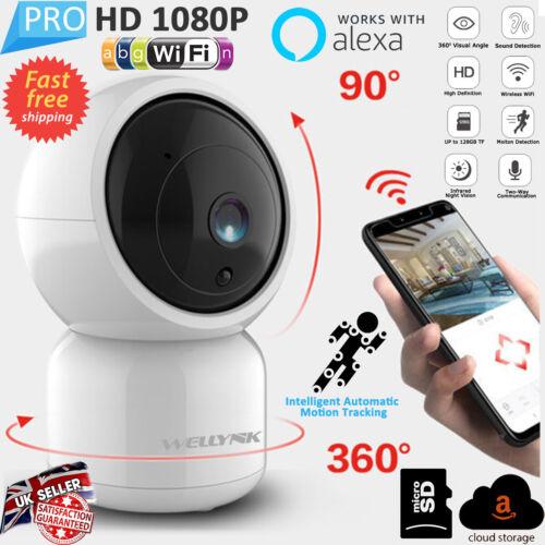 1080P HD Cámara IP inalámbrica de seguridad para el hogar inteligente Wi-fi Cámara Cctv Wi-Fi de audio uk