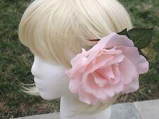 Beautiful large pink blooming rose flower - hair clip,brooch,fascinator handmade