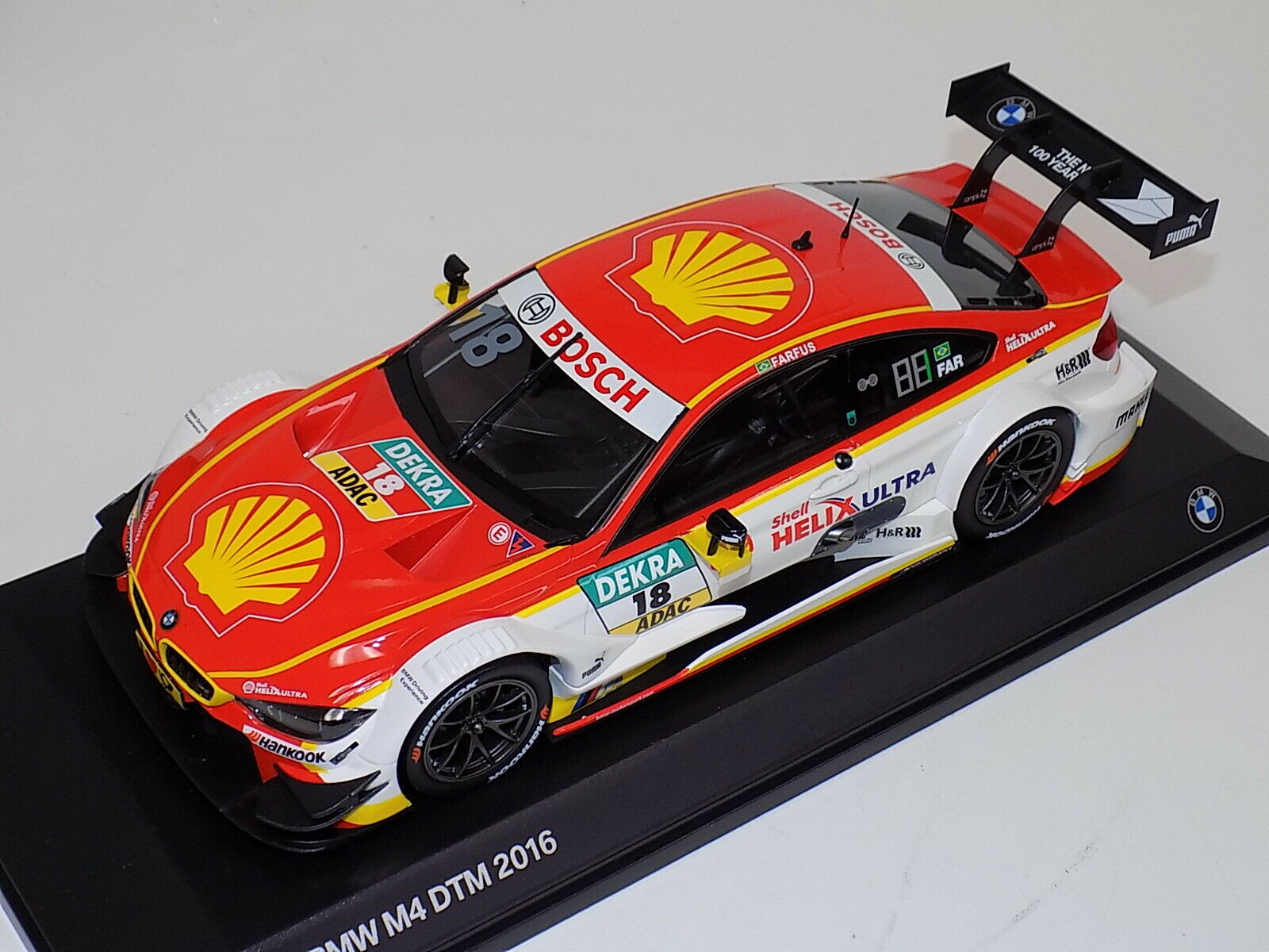 1 18 Norev BMW M4 DTM 2016 Farfus BMW edition 80432413775