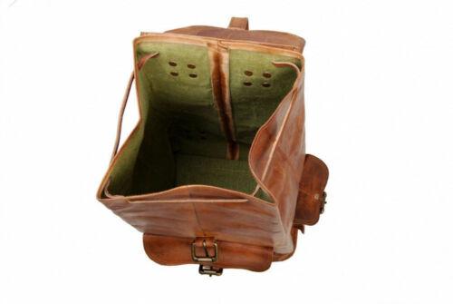 Real Genuine Leather Brown Vintage Men/'s Backpack Bag laptop Satchel Briefcase