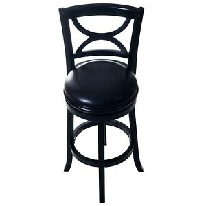 High Quality Vinyl Wooden Swivel Bar Stool With Back 29 Inch Seat
