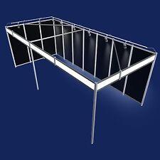 Messestand 7x3 Meter Eckstand schwarz Messebausystem mit Beleuchtung   Stand 28