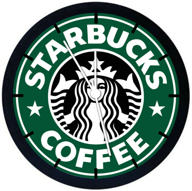 Starbucks Coffee Black Frame Wall Clock for Decor or Gifts A474 | eBay