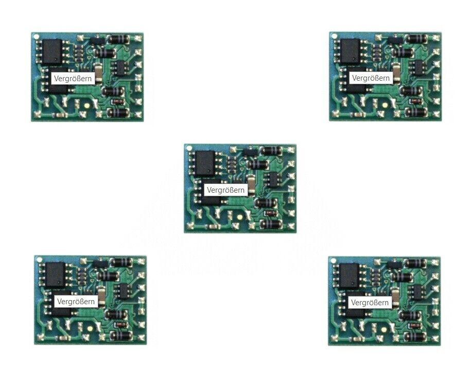 5er Set Tams ldg32.2   Lokdecoder DCCMM senza cavo NUOVO OVP