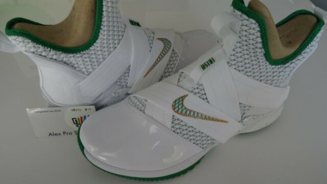 pretty nice 4c713 3bf6e New Men's Sz 10 Nike Lebron Soldier XII 12 SVSM Home White Green Gold  AO2609-100