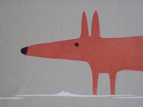 """Diseño de la Tela De Cortina Harlequin Scion /""""señor Fox/"""" 1 metros Natural /& pimentón"""