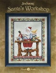 MILL-HILL-JIM-SHORE-Counted-Cross-Stitch-Chart-Leaflet-SANTA-039-S-WORKSHOP