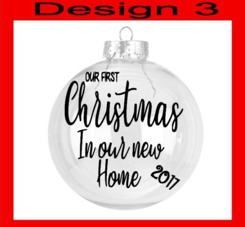 Our Bauble Decal Home Baby/'s First Mummy Daddy Christmas etc DIY Glitter