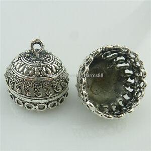 18670-6pcs-Vintage-Antique-Silver-Filigree-21mm-Beads-Cap-Tassels-End-Pendant