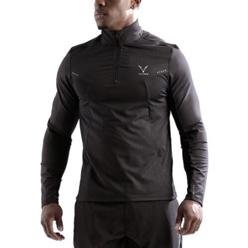 Vaiden Mens Argus 1//4 Zip Lightweight Athletic Workout PulloverBlackNEW