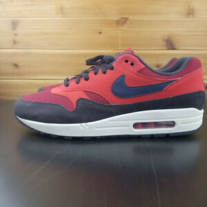 new product 78b00 876fb Image is loading Nike-Air-Max-1-CLASSIC-RED-CRUSH-NAVY-