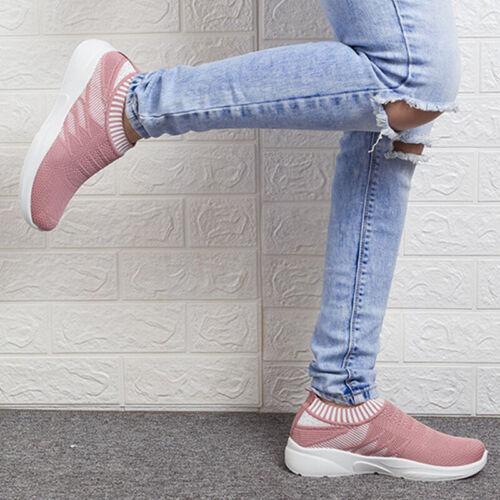 Damen Sportschuhe Laufschuhe Schlupf Freizeit Sneaker Turnschuhe Freizeit Schuhe