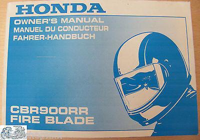 00x37-mas-6200 Anleitung Honda Cbr900rr Fire Blade Kunden Zuerst