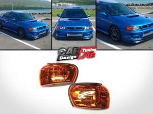 Amber-Side-Corner-Light-Lamp-EMark-Fits-92-00-SUBARU-IMPREZA-WRX-STI-GC8