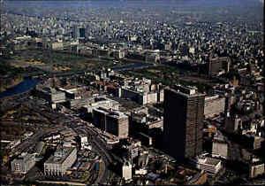 JAPAN-Post-Card-Postkarte-Downtown-Aerial-View-of-SHINJUKU-Luftaufnahme-Tokyo