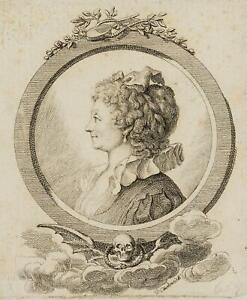 Chodowiecki (1726-1801). Portrait Sophie nero, Rozès Becker; pressione grafico 1
