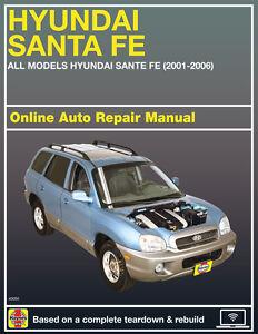 2004 Hyundai Santa Fe Haynes Online Repair Manual-Select Access | eBay