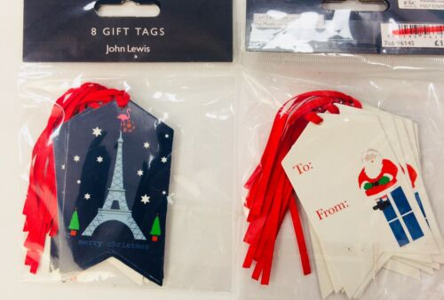 Job Lot JOHN LEWIS GIFT TAG LABEL PACK x 40 5 sets of 8 RRP £8.75 XMAS