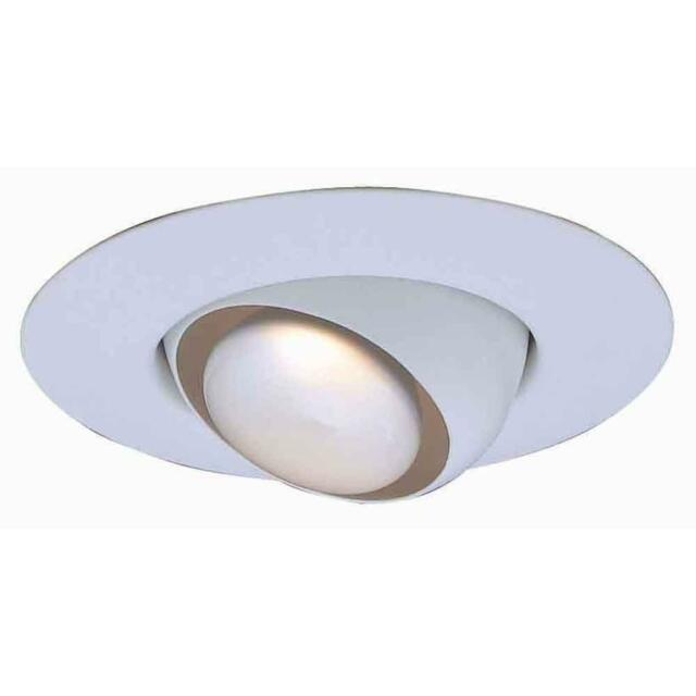 Commercial electric t3 6 white eyeball recessed light trim 340072 r30 white recessed eyeball trim aloadofball Choice Image