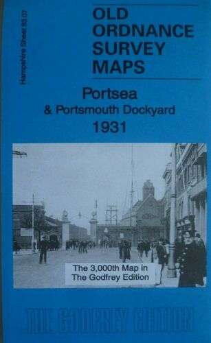 OLD ORDNANCE SURVEY MAPS PORTSEA /& PORTSMOUTH DOCKYARD HAMPSHIRE 1931 Godfrey Ed