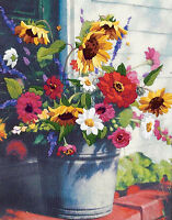 Crewel Embroidery Kit Dimensions Summer Bucket Of Wild Flowers 1534
