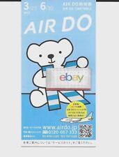 AIR DO JAPAN TIMETABLE 3/2015-6/30/2015 B737-500/700-767-300 AIR DO K BEAR