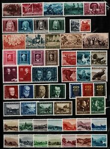 Liechtenstein-1941-6-good-range-of-issues-to-include-agriculture-princes-stamps